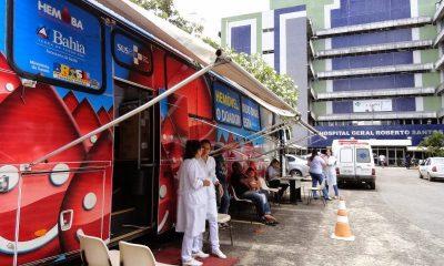 Hemovéis realizam coleta no Hospital Roberto Santos até sexta-feira