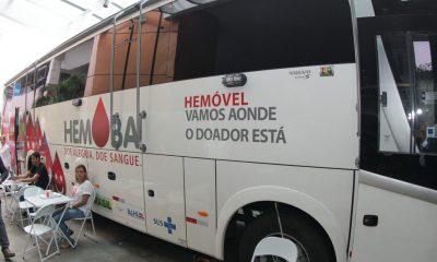 Unidades do Hemóvel ficarão em Lauro de Freitas, Salvador e Feira de Santana até sexta