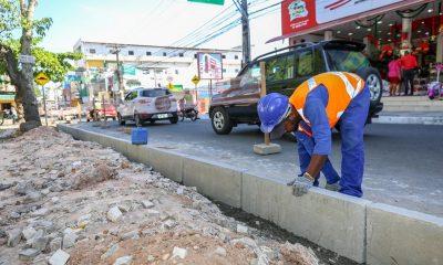 Obras no Centro de Camaçari serão retomadas na terça-feira