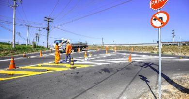 Finalmente, melhorias na intersecção da Industrial Urbana com Via Cascalheira são concluídas