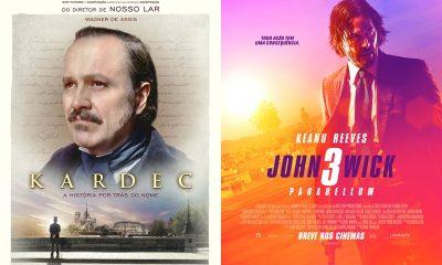 'Kardec' e 'John Wick 3' estreiam hoje no Cinemark Camaçari