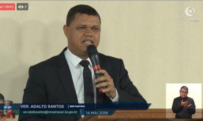 Adalto Santos reforça pedido para criação do CIAT Itinerante em Camaçari
