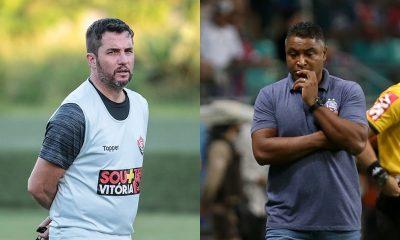 Osmar Loss e Roger Machado em situações completamente distintas no Brasileirão