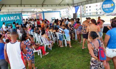 Sesau realiza atendimentos na comunidade do Cristo Redentor no fim de semana