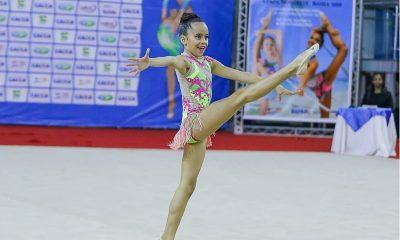 Camaçariense, Sofhia Xavier é a atleta pré-infantil baiana melhor colocada em torneio nacional de ginástica rítmica