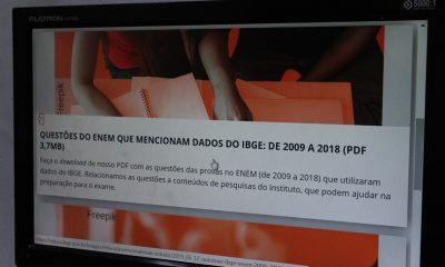 IBGE lança materiais de estudo para o Enem