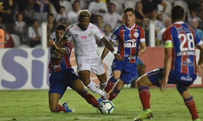 Bahia perde para o Santos em jogo com anulação polemica do VAR