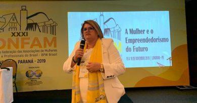 Em Londrina, contadora de Camaçari defende o empreendedorismo e a presença da mulher nos negócios