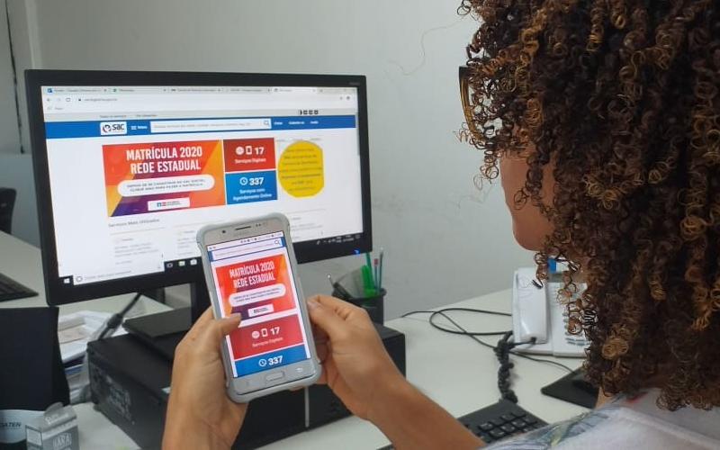 Mais de 500 mil estudantes da rede estadual devem renovar matrícula a partir desta quinta pelo SAC Digital