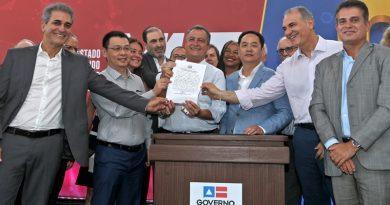 Rui Costa autoriza início das obras do VLT que ligará Salvador a Simões Filho