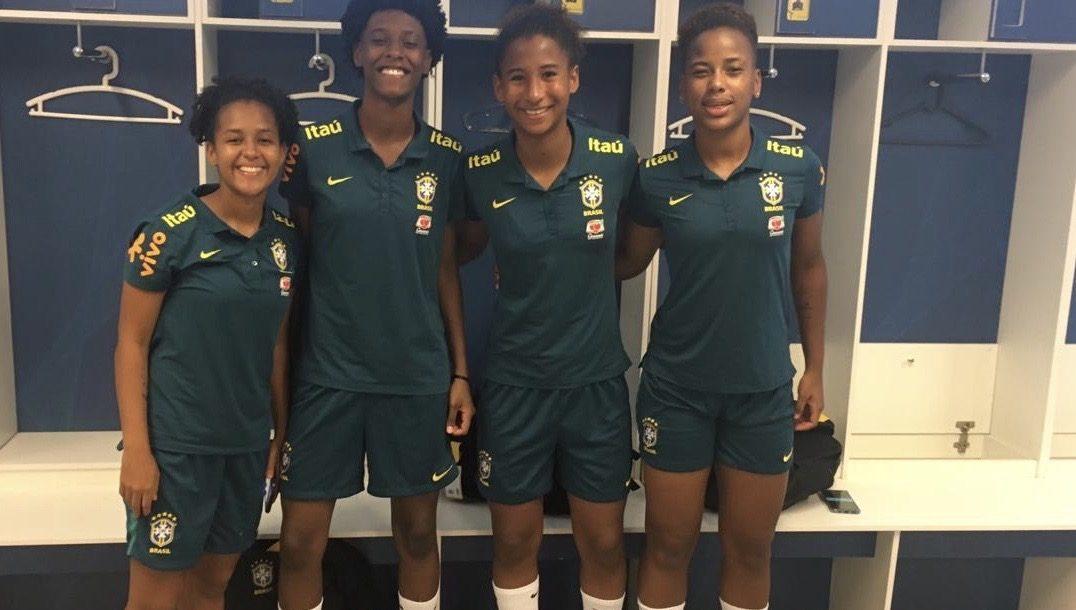 Convocadas para seleção brasileira, atletas sub-17 do Vitória treinam na Granja Comary