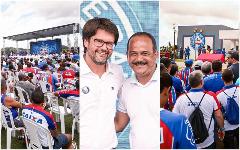 Bahia inaugura Cidade Tricolor em Camaçari e Elinaldo isenta 75% de impostos