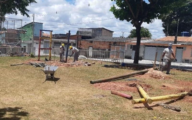 Camaçari: praças de oito bairros serão reformadas
