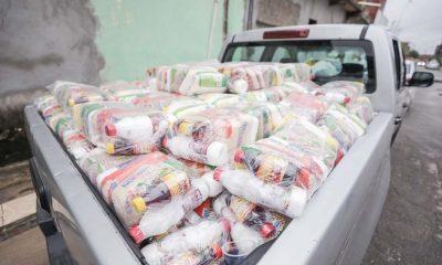 Governo segue com entrega de cestas nesta segunda-feira