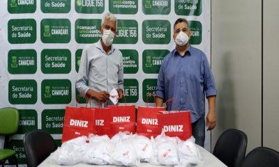 Óticas Diniz doa 300 máscaras ao governo municipal