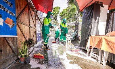 Prefeitura realiza ação de higienização e desinfecção na Feira