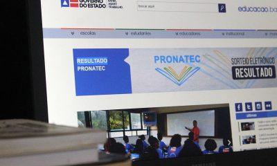 Estado divulga lista de estudantes contemplados com cursos do Pronatec