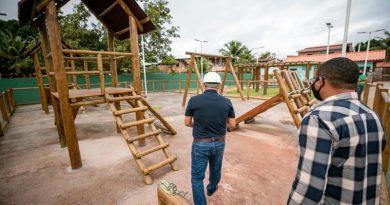 Praça do Jardim Limoeiro está em fase de finalização; obra teve investimento de aproximadamente R$ 900 mil
