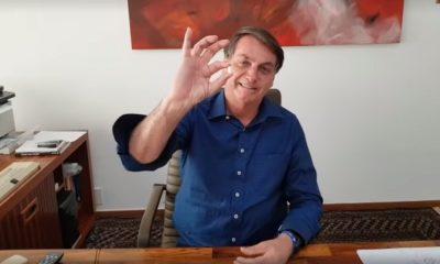 Bolsonaro e sua homofóbica máscara de cloroquina, por Kaique Ara