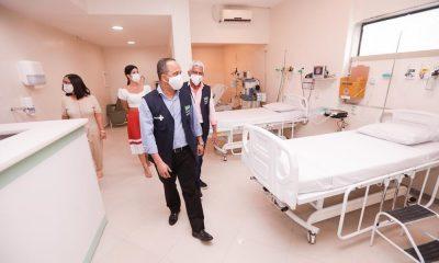 Elinaldo faz vistoria em leitos contratados no Hospital Santa Helena