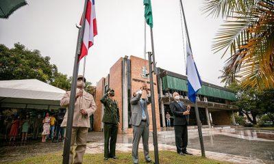 """""""Que a democracia seja um exercício diário para termos, cada vez mais, um Brasil Independente"""", afirma Elinaldo em cerimônia discreta neste 7 de setembro"""