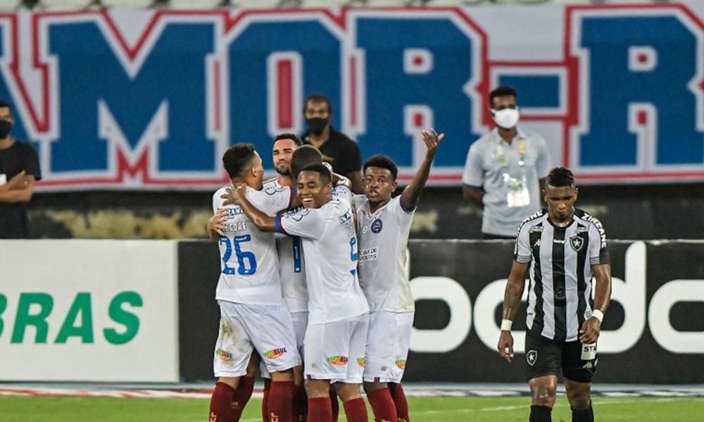 Brasileirão: após nove partidas sem vencer, Bahia bate o Botafogo no Rio de Janeiro