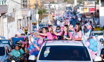 Ivana Paula lidera carreata de mulheres em apoio a Elinaldo