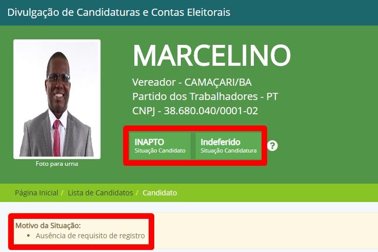Juíza rejeita embargos de declaração de Marcelino; nova decisão mantém político inapto para eleição