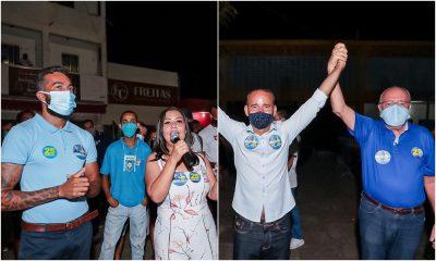 Com presença de Tude e Ivana, Tarcísio Coiffeur inaugura comitê e Lico faz lançamento de candidatura
