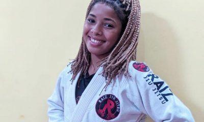 Diovana Cruz representa Camaçari em competição feminina baiana de jiu-jitsu