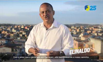 """""""Camaçari voltou a sonhar grande"""", diz Elinaldo em programa político"""