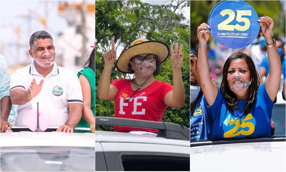 Oziel, Ivoneide e Elinaldo promovem carreatas no fim de semana e agitam as ruas da cidade