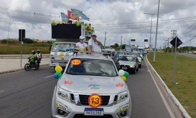 Em mega carreata, Roquenei Cabeceira se consolida como forte candidato para Câmara