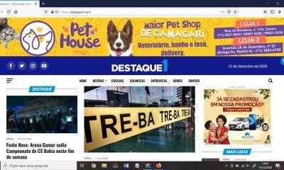 Com jornalismo profissional e de alto nível, Destaque1 completa três anos em Camaçari
