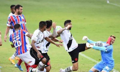 Com susto em campo, Bahia empata fora de casa contra o Vasco