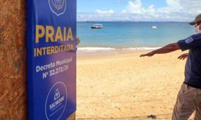 Salvador prorroga medidas e praias ficarão fechadas no feriado de 2 de Julho
