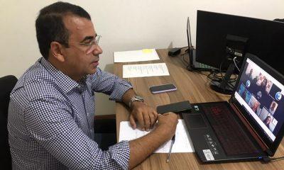 Em evento online, Júnior Borges debate retorno das aulas presenciais no município