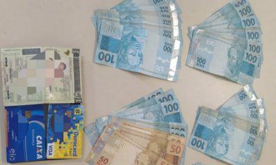 Policiais prendem suspeito de gerenciar tráfico em Camaçari com grande quantia em dinheiro