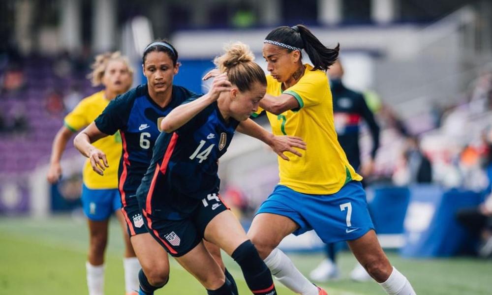 Brasil perde para os Estados Unidos na SheBelieves Cup