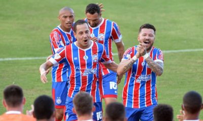 Copa do Nordeste: em casa, Bahia goleia o Altos-PI e assume liderança da tabela