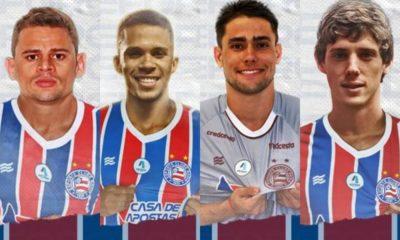 Bahia apresenta quatro reforços para temporada 2021
