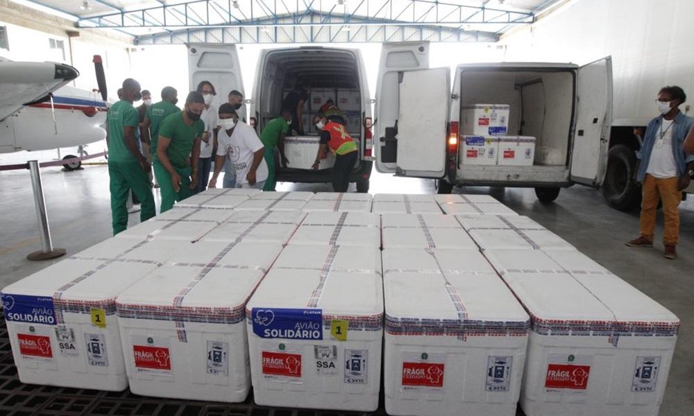 Bahia recebe 347 mil doses de vacina contra o coronavírus