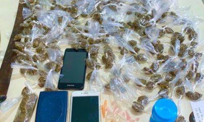 Polícia flagra e prende homem que transportava 289 embalagens de maconha em Dias d'Ávila