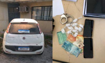 PM registra prisão em flagrante, recuperação de veículos roubados e apreensão de drogas em Dias d'Ávila