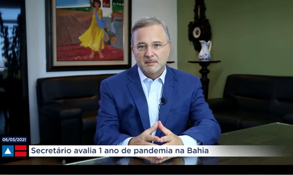 """""""É preciso que os nossos quase 15 milhões de baianos sejam fiscais da saúde pública"""", diz Fábio Vilas-Boas ao avaliar um ano de pandemia"""