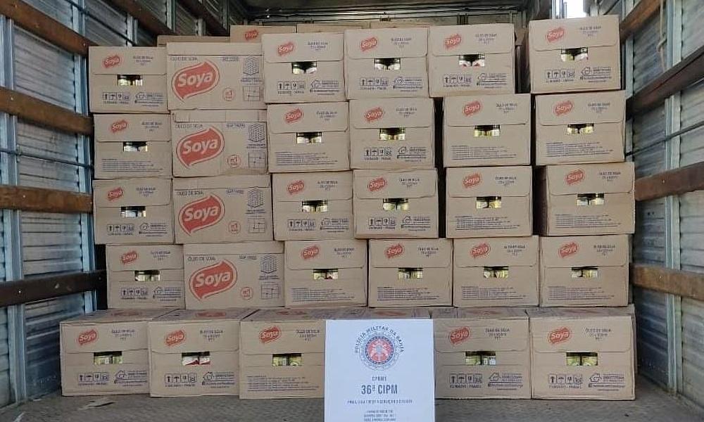 36ª CIPM Dias d'Ávila recupera carga de óleo de soja avaliada em R$ 237 mil