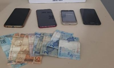Trio suspeito de roubar celulares é preso no bairro Santa Helena