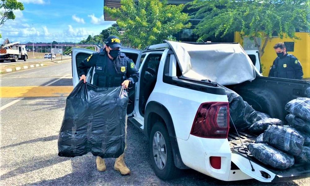 RMS: Após perseguição policial, mais de 260 kg de maconha são encontrados em caminhonete