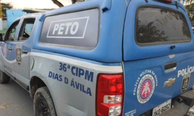 Dias d'Ávila: homem é preso em flagrante após agredir e ameaçar esposa