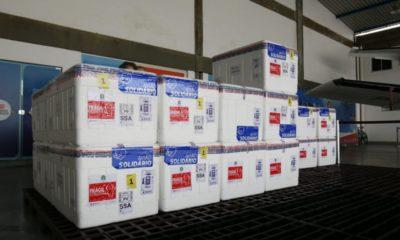 Bahia recebe 405 mil doses de vacina contra o coronavírus da AstraZeneca